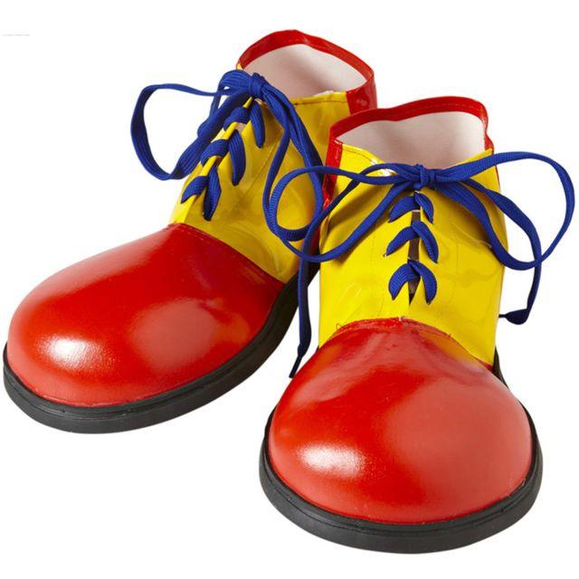 Bleus et Lacets Clown De Chaussures Jaune Rouge lKJ3FT1cu