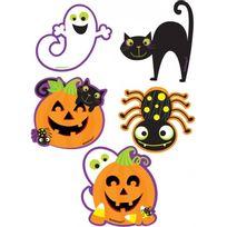 Amscan International - Découpes de décoration Halloween cartoon x10