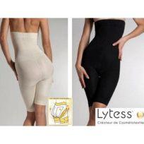 Lytess - Panty Taille Haute Micro Encapsule Beige Ou Noir L Ivoire