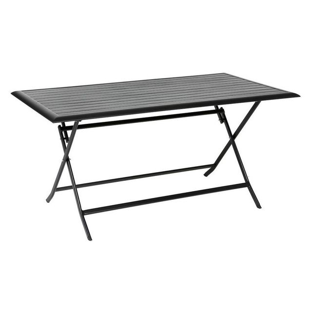 Hespéride Table aluminium Azua 6 places noir