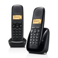 GIGASET - Téléphone fixe sans fil sans répondeur - A150 - Duo Noir