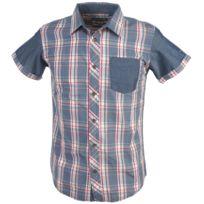 Teddy Smith - Chemise manches courtes Claude mc shirt nv jr Bleu 78546