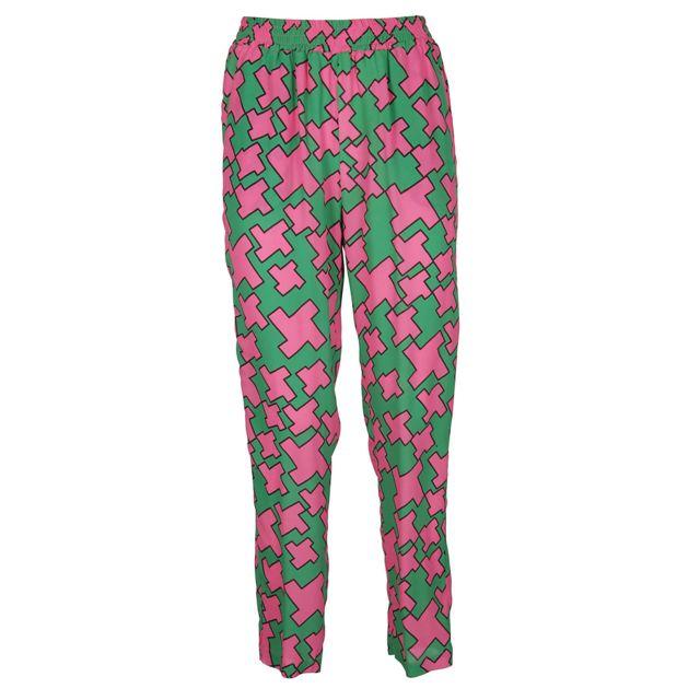 Suoli Femme S29140341047 Vert Viscose Pantalon