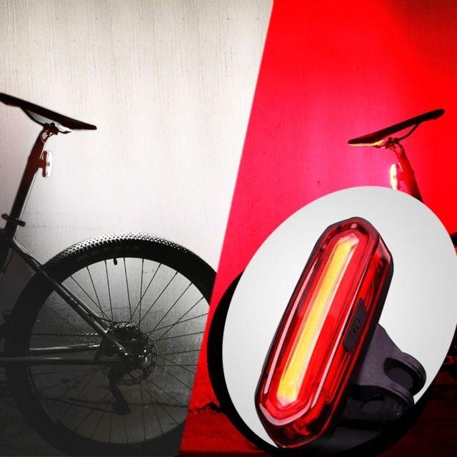 DEL Vélo Bicyclette Feu arrière rechargeable USB BIKE arrière Avertissement Lumière 6 modes