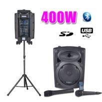 "Ibiza - Enceinte Active 8"" 400W, Usb/SD Bluetooth + Pied"