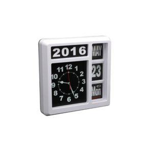 Perel horloge murale chiffres sautants avec calendrier - Horloge murale avec calendrier ...