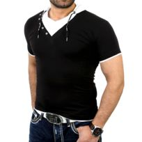 Rerock - Tee shirt fashion homme T-shirt Rr1242 noir