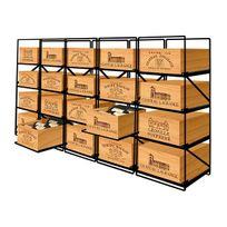 Modulorack - La seule solution pour stocker 20 caisses de vins et 240 bouteilles - Aci-mod501H