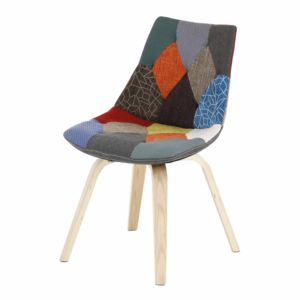 alin a joy chaise patchwork avec pi tement bois design
