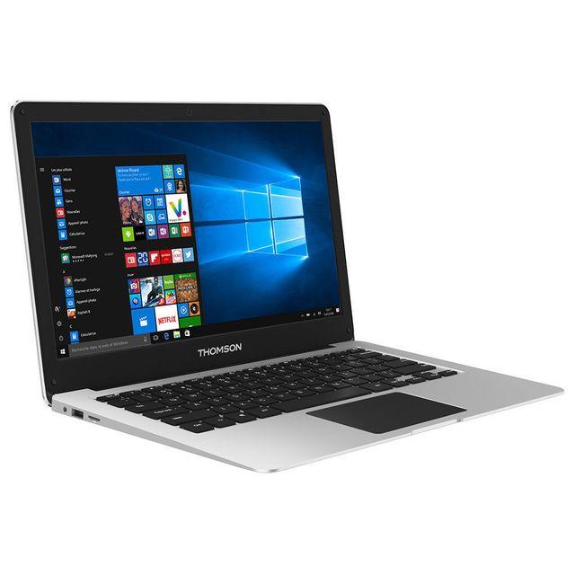 destockage thomson ordinateur portable x6a gris sacoche pas cher achat vente ordinateur. Black Bedroom Furniture Sets. Home Design Ideas