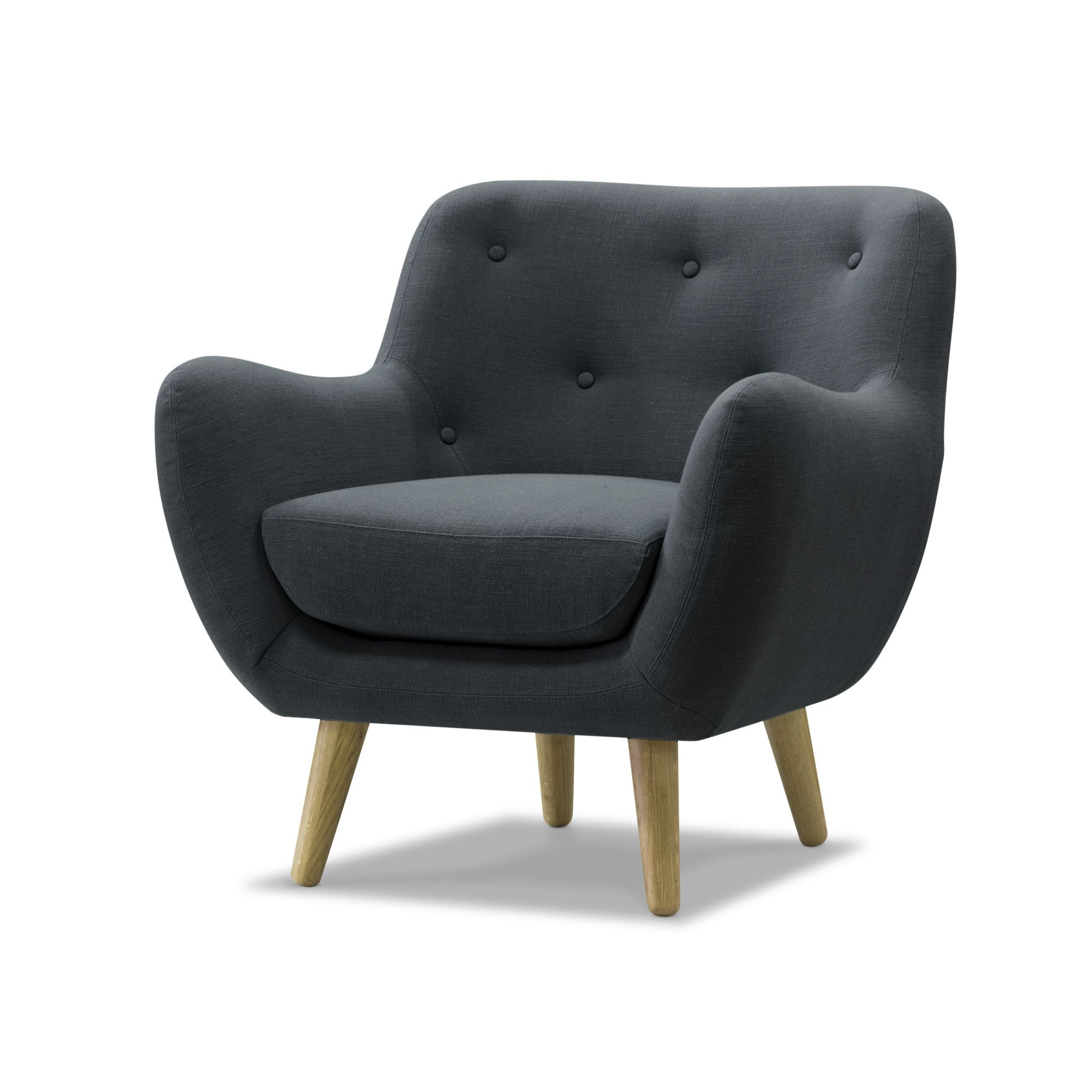 alin a poppy meuble fauteuil esprit scandinave gris pas cher achat vente fauteuils. Black Bedroom Furniture Sets. Home Design Ideas