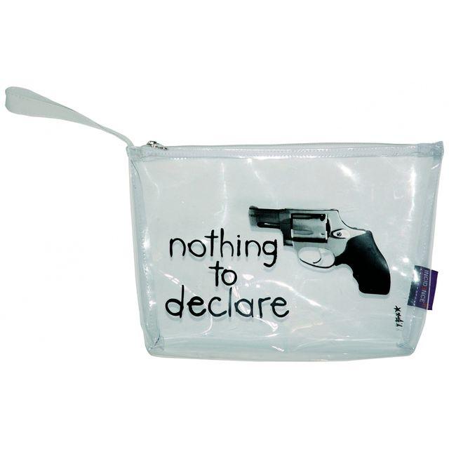 Incidence - Trousse de toilette avion transparente homme - Nothing to declare