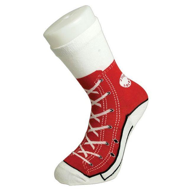 Kas Design - Chaussettes Baseball, Cadeau Insolite Chaussettes Baseball rouges - 38/42
