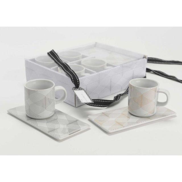 Amadeus Coffret de 4 tasses café gourmand Filaire