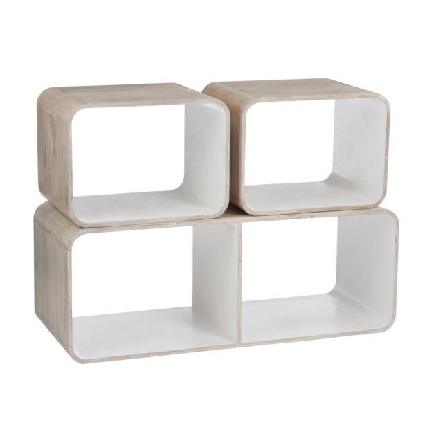 Jolipa J-line Table basse Blanc/beige