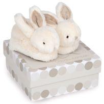 collection entière meilleure sélection acheter pas cher Coffret lapin bonbon : Chaussons 0-6 mois taupe