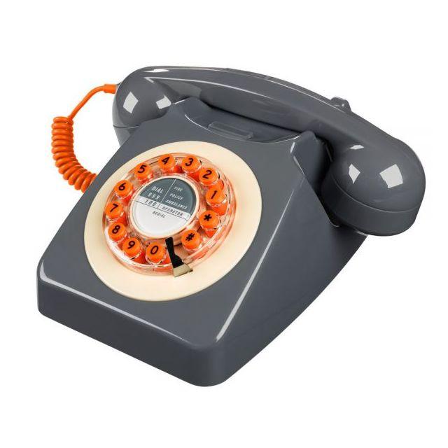 ww t l phone 746 gris b ton pas cher achat vente t l phone fixe filaire rueducommerce. Black Bedroom Furniture Sets. Home Design Ideas