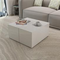 Justdeco - Superbe Table basse blanc à haute brillance neuf