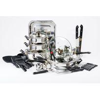 RUE DU COMMERCE - Batterie de cuisine - 42 pièces - Inox - 10372