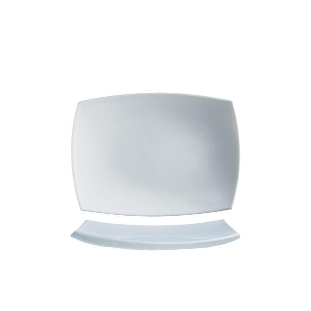 Arcoroc Assiette rectangulaire 35 x 26cm blanche en arcopal - Delice