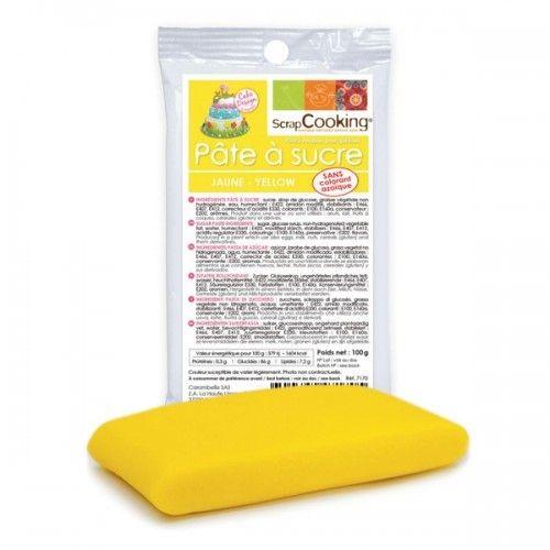 Scrapcooking Pâte à sucre jaune 100 g