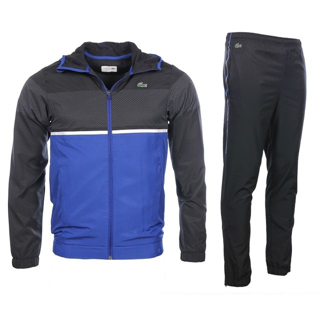 fddd2d4325 Lacoste - Sport - Homme - Ensemble de survêtements noir et bleu Wh2092 - pas  cher Achat / Vente Survêtement homme - RueDuCommerce