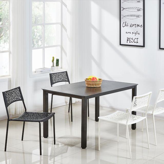 Oneboutic Table à manger extérieur noire en Plastique renforcé - Siene