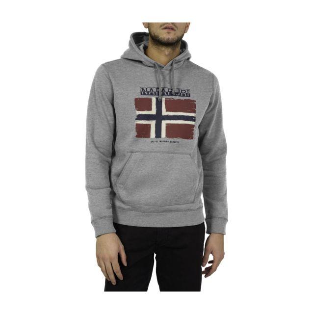 Sweatshirt A Capuche Balys Hood Med Grey