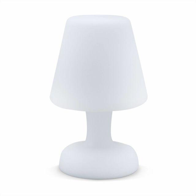 ALICE'S GARDEN - Lampe de table LED 26cm - Lampe de table décorative lumineuse, Ø 16cm, recharge sans fil