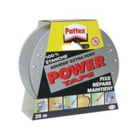 Pattex - Ruban adhésif Power Tape - gris - 25 m