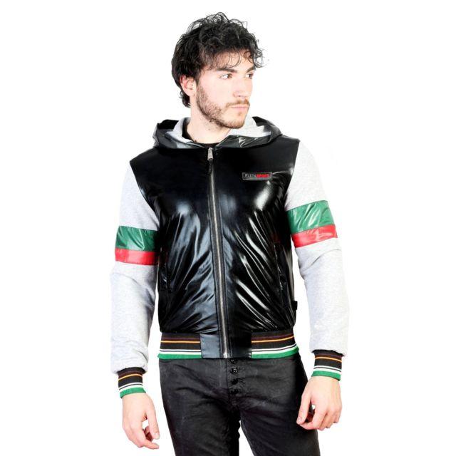 online retailer 8a3d6 3a8cb plein-sport-blouson-a-capuche-pour-homme-noir.jpg