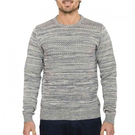 3c236ed92867 Oxbow - Pull Pamero Homme Gris - pas cher Achat   Vente Pull homme -  RueDuCommerce
