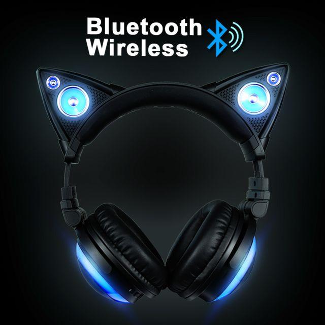 Oregon Scientific Casque Audio Oreilles de Chat, Bluetooth sans fil avec haut-parleur et 8 choix de couleurs