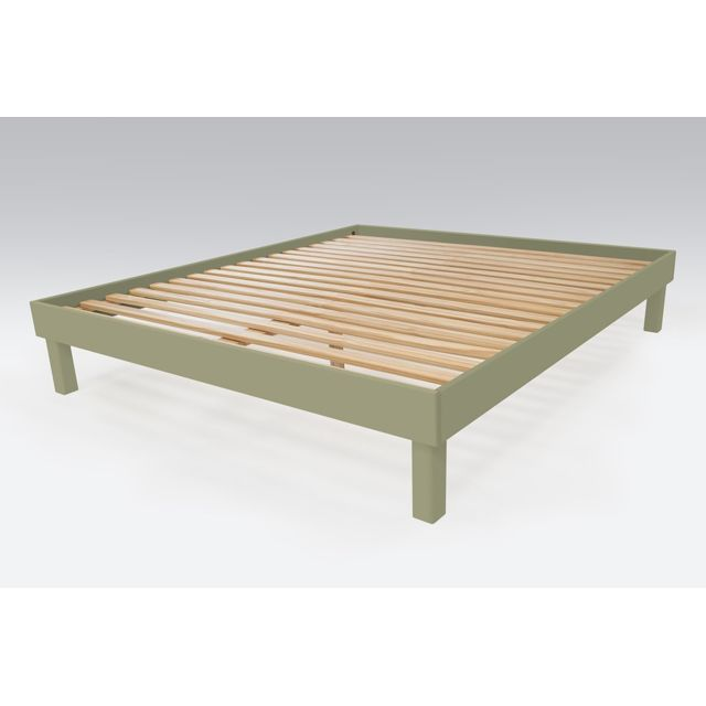 abc meubles lit confort grande taille 180x200 cm bois taupe 180cm x 200cm pas cher achat. Black Bedroom Furniture Sets. Home Design Ideas