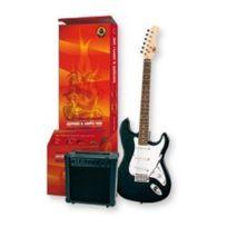 Delson - Pacs100BK-DEL Pack de Guitare électrique Type Strato Noir