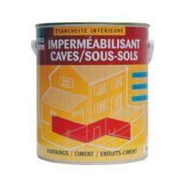 Procom - Peinture d'étanchéité, imperméabilisante pour sous-sols, caves, murs enterrés, garages, béton-2.5 litres