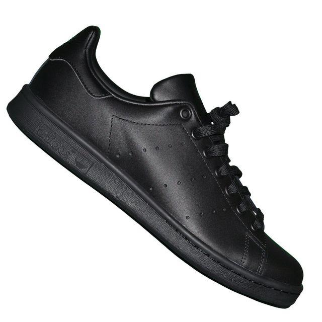 separation shoes 7f4d8 b30e9 Adidas originals - En Solde Baskets - Stan Smith J - All Black Noir - pas  cher Achat   Vente Baskets homme - RueDuCommerce