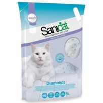 Sanicat - Litiere Diamonds Silice 5l - Pour chat