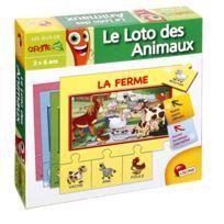 Lisciani - Jeu éducatif puzzle mes 1ers mots - Le loto des animaux