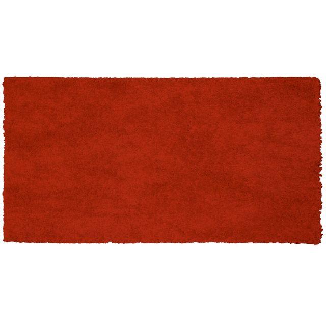 Tapis Deco Cdaffaires Tapis rectangle 60 x 115 cm tisse uni palace Rouge