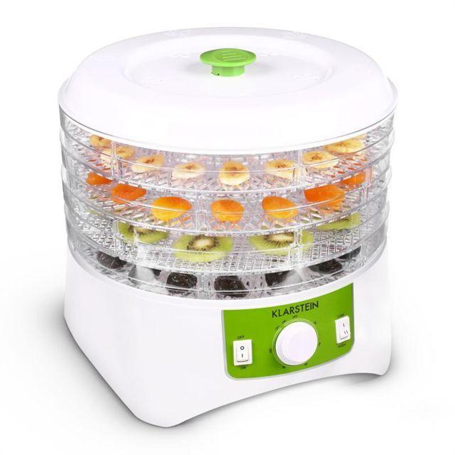 KLARSTEIN Appleberry Deshydrateur 400W 4 étages sans BPA -blanc/vert