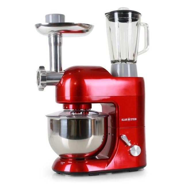KLARSTEIN Lucia Rossa Robot de cuisine Pétrin Mixeur Hachoir - rouge