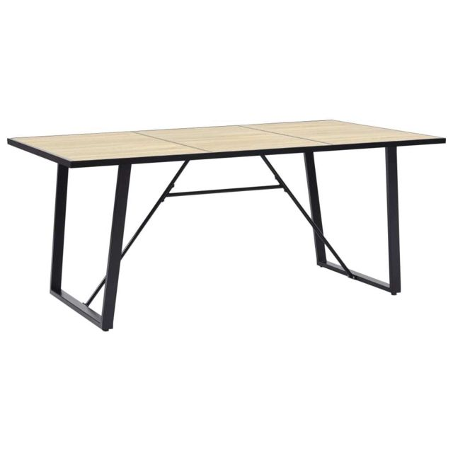 Vidaxl Table de Salle à Manger 200x100x75 cm Mdf Dîner Cuisine Repas Maison
