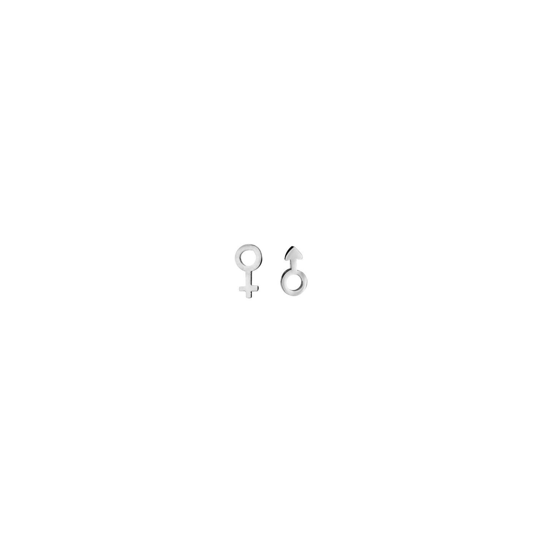 1001BIJOUX- Boucles d oreille tige acier symbole homme   femme 8b40ef31c8b8