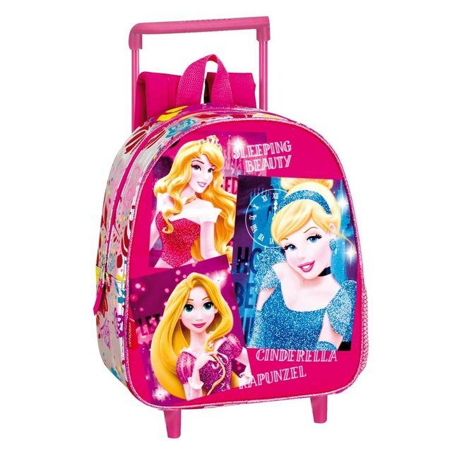 Disney Princesses - Sac à dos à roulettes maternelle Princesse Stars 28 Cm  trolley - Cartable 13c4e1be1ee6
