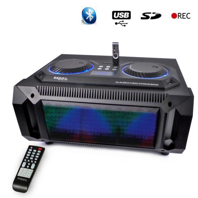 Ibiza Enceinte Splbox150 200W 2,1 Bluetooth Usb Sd Fm