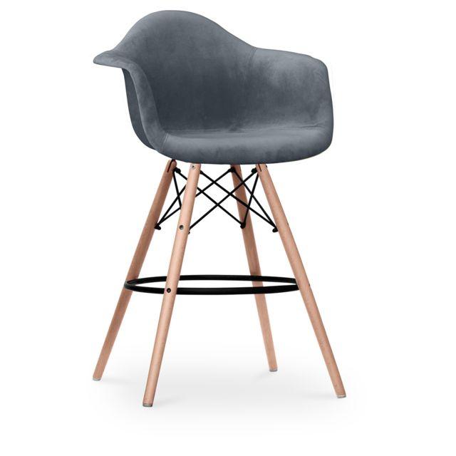 Privatefloor Tabouret Daw Charles Eames - Style Full Tissu