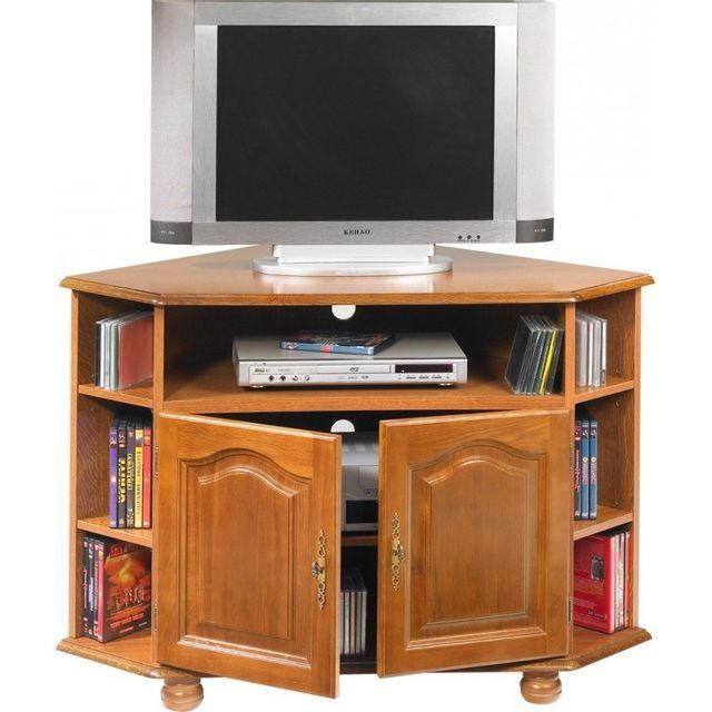 Beaux meubles pas chers meuble tv d 39 angle ch ne 2 portes pas cher achat vente meubles tv - Avis beaux meubles pas cher com ...
