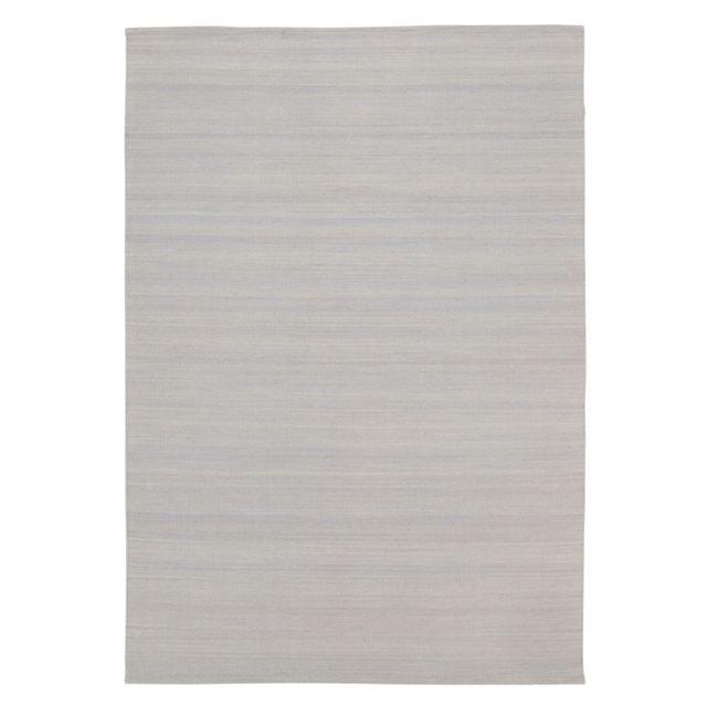 Alinéa - Sanjia Tapis gris clair en laine fait main - 120x170cm ...