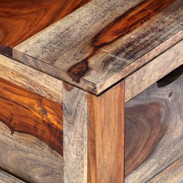 Icaverne - Tables basses reference Table basse Gris 100 x 55 x 30 cm Bois de Sesham massif
